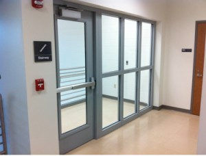 Examples of code compliant glazing in 60 min applications for 1 hour fire rated glass door