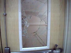 Unsafe wired glass 1