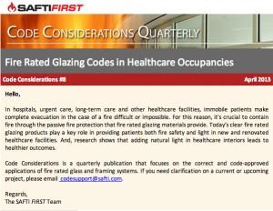 Code Considerations April 2013