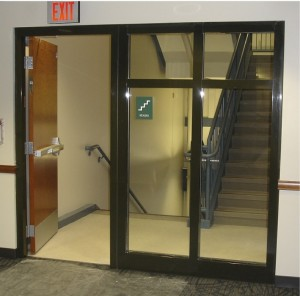 Code requirements for fire rated glass in exit stairwell enclosures sidelites planetlyrics Choice Image