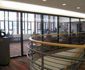Fire resistive glass and frames meet ASTM E119 wall standards.